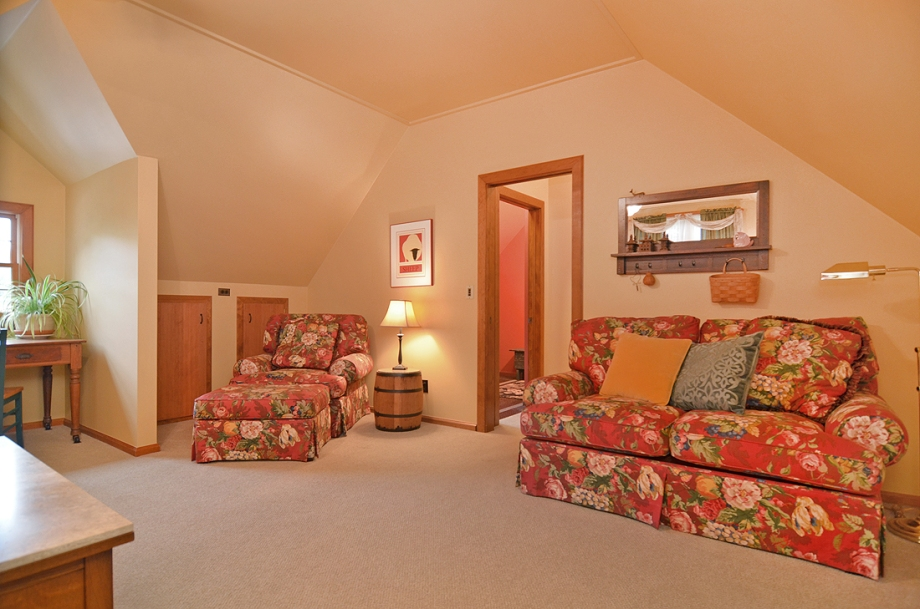 Comfortable seating in the bedroom